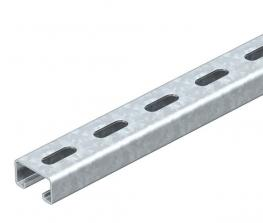 MS4121 mounting rail, slot 22 mm, perforated FT
