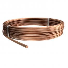 Round conductor, copper