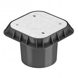 Underfloor test box, made of plastic