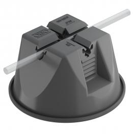Roof conductor holder for flat roofs, black