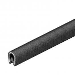 Edge protection strip, black