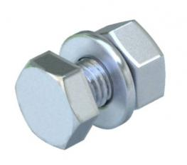 Hexagonal bolt with nut and washer M8