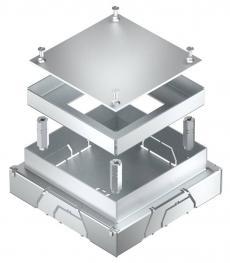 JBM underfloor connection socket for 1 PVC duct
