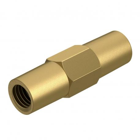 Coupling for earth rod with thread