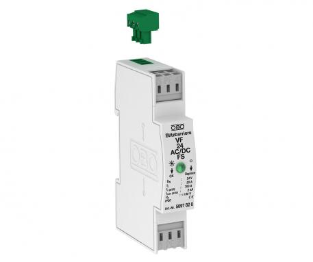 MCR protection for 2-pole for power supply with remote signalling, 12 V AC/DC