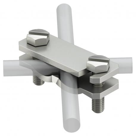 Diagonal clamp for flat conductors and round conductors A2
