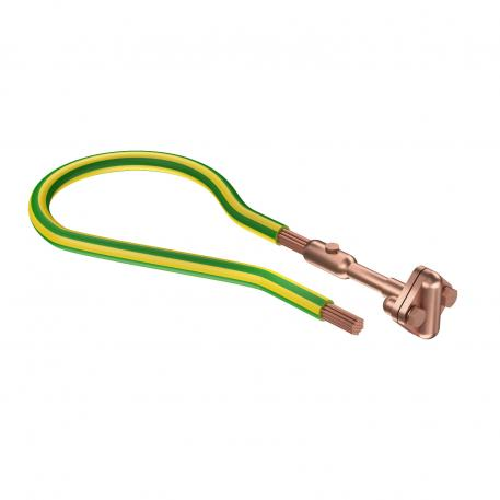 Fixed earthing terminal with 2 connections