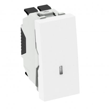 Changeover switch with LED element, 1/2 module