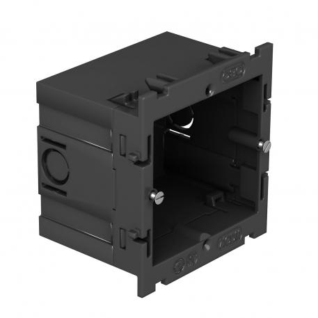 Accessory mounting box, single, with large installation opening