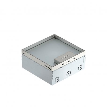 UDHOME4 floor box, freely equippable, stainless steel
